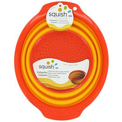 Silicone Cooking Colander - Silicone Colander Collapsible Strainer 4 Qt. Dishwasher Safe