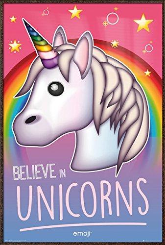Unicorn Emoji - Framed Motivational / Fantasy Poster / Print