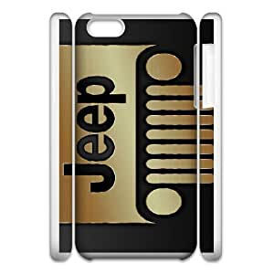 iPhone 6 4.7 3D Cell Phone Case White Jeep Car Logo Custom Case Cover 3YUI510128
