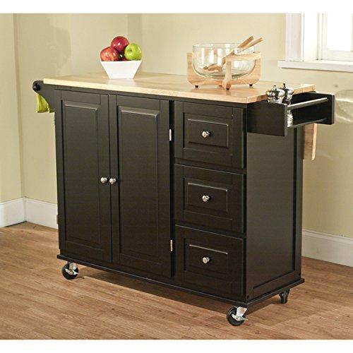 Simple Living Black/ Natural Aspen 3-drawer Kitchen ()
