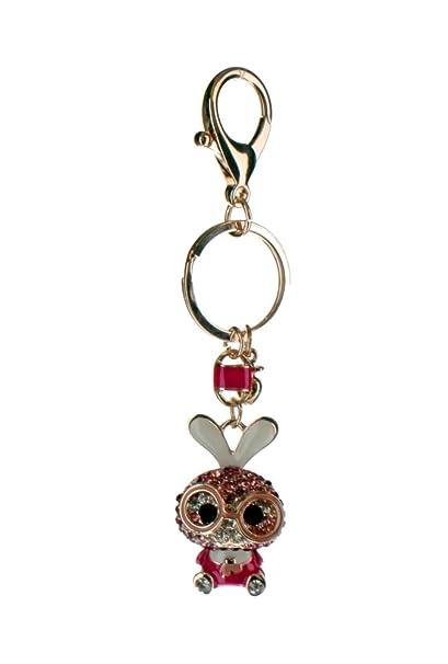 Amazon.com   Rhinestone Bling Key Chain Fob Phone Purse Charm Bunny Rabbit  Goggles   Everything Else 425173c6d6e3