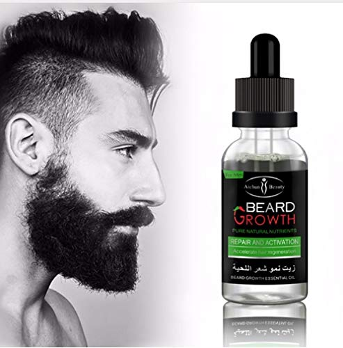 ChicChillShop Professional Men Beard Growth Enhancer Facial Nutrition Moustache Grow Beard Shaping Tool Beard care products