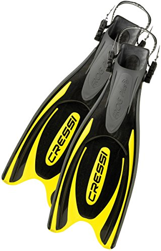 Cressi Adult Powerful Efficient Open Heel Scuba Diving Fins | Frog Plus made in Italy by quality since 1946 by Cressi