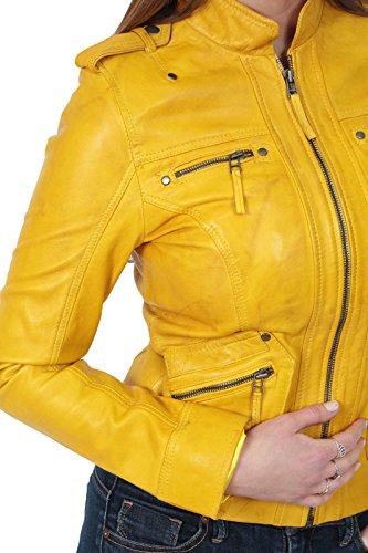 Jaune Fashion Goods Femme Blouson A1 Veste Damassée 4CYCdp