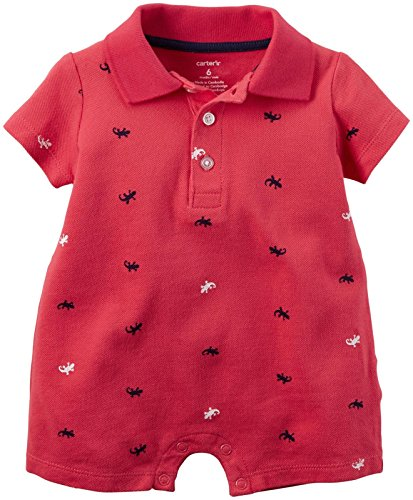 Carter's Baby Boys' 1pc Romper Red Shiffli Lizzards