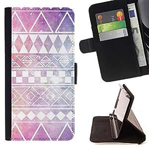 - Queen Pattern FOR Samsung Galaxy S3 III I9300 /La identificaci????n del cr????dito ranuras para tarjetas tir????n de la caja Cartera de cuero cubie - stars purple native America