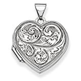 ICE CARATS 14k White Gold Scrolled Love You Always Heart Photo Pendant Charm Locket Chain Necklace That Holds Pictures Fine Jewelry Ideal Mothers Day Gifts For Mom Women Gift Set From Heart