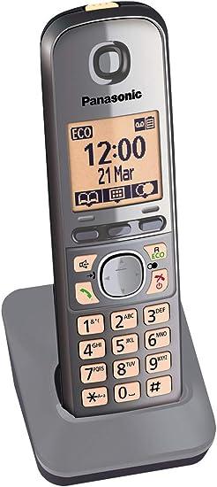 Panasonic KX-TGA671EXM - Teléfono inalámbrico supletorio (Gran Alcance, Supletorio Adicional, Base Fina y Compacta): BLOCK: Amazon.es: Electrónica