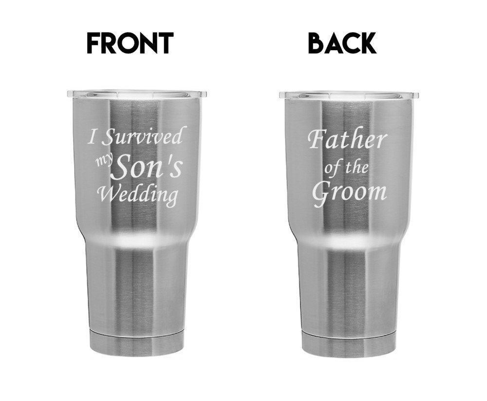 I Survived My Sons Wedding Stainless Steel Can Father of the Groom Gift