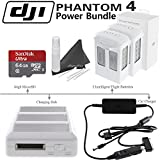 DJI Phantom 4 Power Bundle: Includes 2 Phantom 4 Intelligent Flight Batteries, Charging Hub, Car Battery Charger, SanDisk 64GB MicroSD Card & eDigitalUSA Cleaning Kit