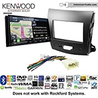 Volunteer Audio Kenwood Excelon DNX994S Double Din Radio Install Kit with GPS Navigation Apple CarPlay Android Auto Fits 2007-2013 Mitsubishi Outlander