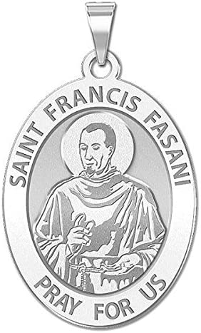 PicturesOnGold.com Saint Francis Fasani or Sterling Silver Available in Solid 10K And14K Yellow or White Gold