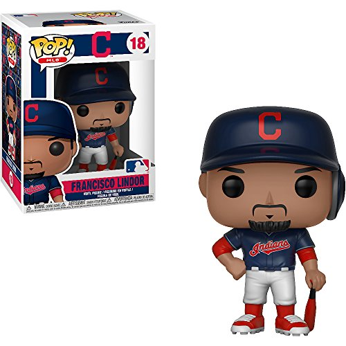 Francisco Lindor [Cleveland Indians]: x Funko POP! MLB Vinyl Figure & 1 POP! Compatible PET Plastic Graphical Protector Bundle [#018 / 30236 - B] ()