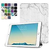 TNP iPad 2 / 3 / 4 Case - Slim Lightweight Shell Smart Cover Stand, Hard Back Protection with Auto Sleep Wake for iPad 4th Generation with Retina Display, iPad 3 & iPad 2 (Marble White)