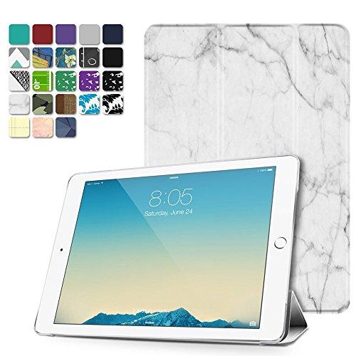 TNP iPad 2/3/4 Case - Slim Lightweight Shell Smart Cover Stand, Hard Back Protection with Auto Sleep Wake for iPad 4th Generation with Retina Display, iPad 3 & iPad 2 (Marble White)