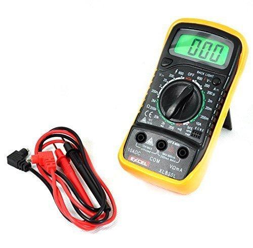 Wiysond Digital- LCD Multimeter XL - 830L XL830L Voltmeter Amperemeter Widerstandsmessgerät OHM VOLT Prüfgerät mit Hintergrundbeleuchtung