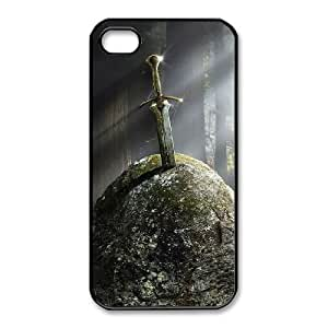 iphone4 4s Phone Case Black Fantasy Ancient sword in the stone ZKH9360314