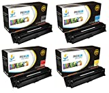 Catch Supplies 307A BCMY 4 Pack Premium CE740A CE741A CE742A CE743A Replacement Toner Cartridge Compatible with HP Color LaserJet Professional CP5225 series Printers |Black, Cyan, Magenta, Yellow|