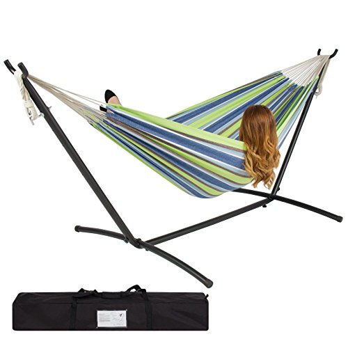 Trendy Double Hammock With Space Saving Steel Stand Includes Portable Carrying Case Keep You Relaxed And Comfortable In Any Outdoor - Armands Fl St Key