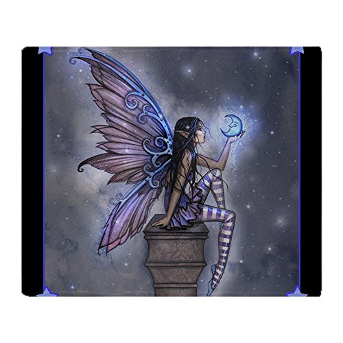 (CafePress Little Blue Moon Fairy Fantasy Art Soft Fleece Throw Blanket, 50