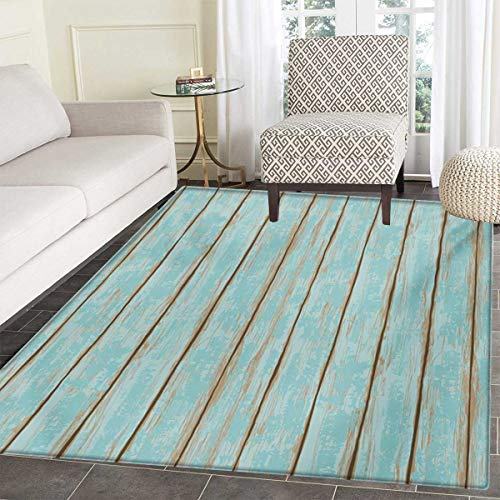 Wood Print Door Mat Indoors Old Fashioned Weathered Rustic Planks Summer Cottage Beach Coastal Theme Customize Bath Mat Non Slip Backing 24
