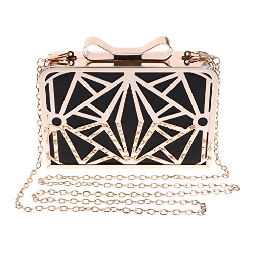Prom Evening Bag Women's Chain Shoulder Wedding Purse Party Bridal Crossbody Black Pink JAGENIE 50UqZ