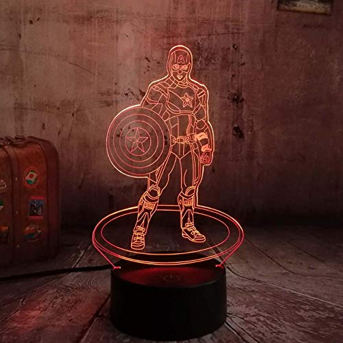 7 farbige 3D-Nachtlicht-LED RGB Touch Night Light Table Lamp Child Kid Toy Gift Decoration Christmas Lighting Decoration
