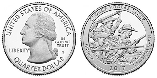 2017 S George Rogers Clark National Park Silver Proof Quarter PF1