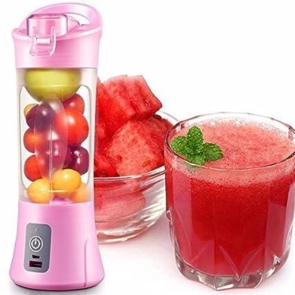 NH MART Plastic Portable USB Electric Blender Juice Cup(Multicolour)