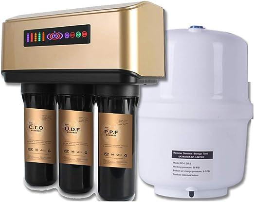 Sistema De Filtración De Agua Potable De 5 Etapas De Escritorio Ro Reverse Osmosis, Pantalla Inteligente Led, Purificador De Agua Doméstico, 300L/Diario: Amazon.es: Hogar
