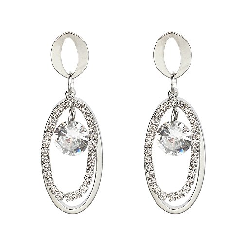 Womens Dangle Earrings,Elegant Zircon Drop Earrings Diamond-Encrusted Stud Earrings Jewelry Axchongery (F, 1 Pair)