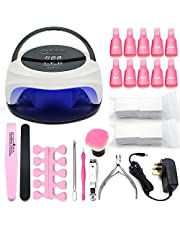 72W LED UV Nail Lamp Dual Mode Nail Dryer for Gel/CND Shellac Nail Lamp with Handle and Removable Bottom Plate