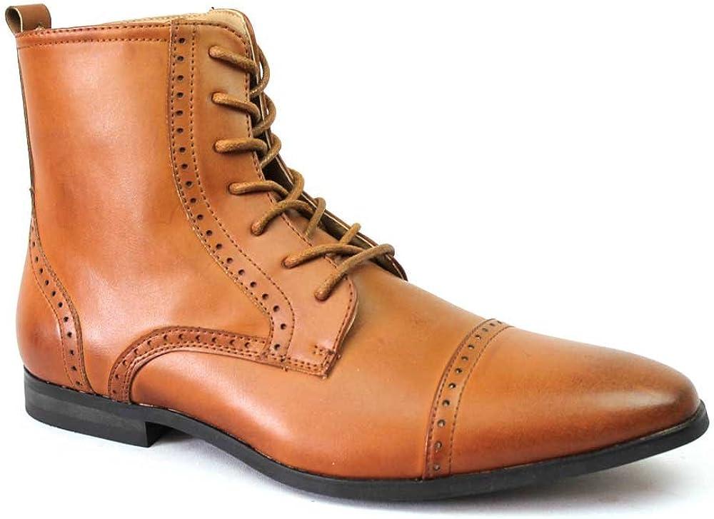 New Men's Cap Toe Boots Detailed