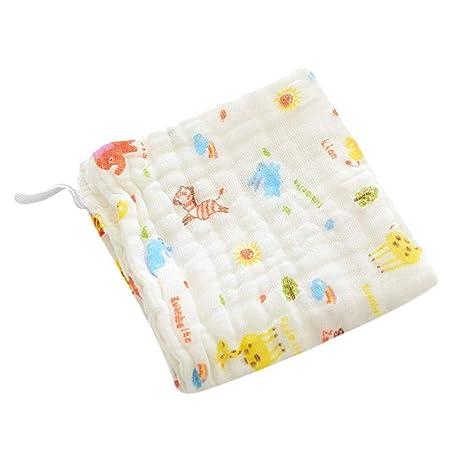 QUICKLYLY Bandanas bebe Toallas suaves de muselina para bebés 6 capas Bebé Baberos Algodón Suave Saliva