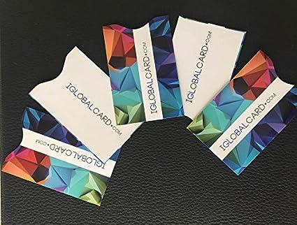 Fundas protectoras inhibidoras bloqueo tarjeta credito Set 5 Fundas NFC RFID funda rfi nfc chip contactless