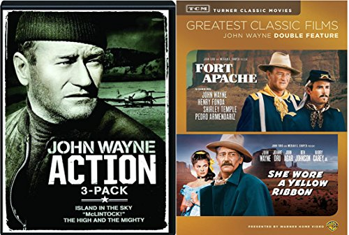The John Wayne Five - Island in the Sky, McLintock!, The High and the Mighty, Fort Apache & She Wore a Yellow Ribbon 5-Classic DVD Bundle