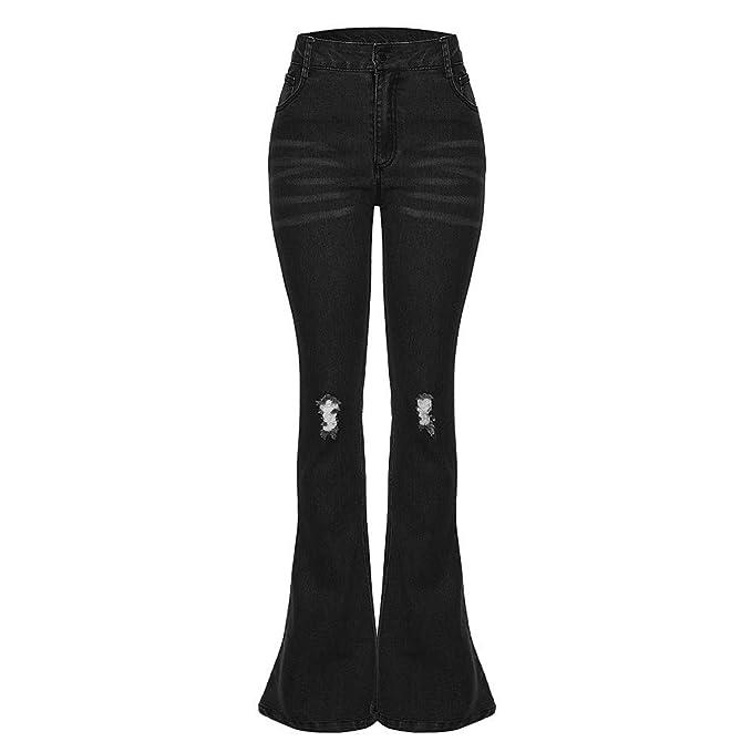 NPRADLA Vaqueros Jeans Tendencia Moda Mujer Jeans Denim Hole ...