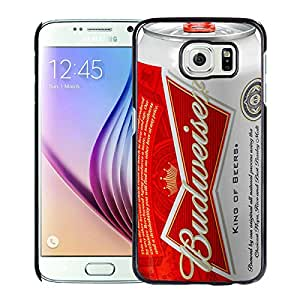 Unique And Lovely Designed Case For Samsung Galaxy S6 With Budweiser Black Phone Case