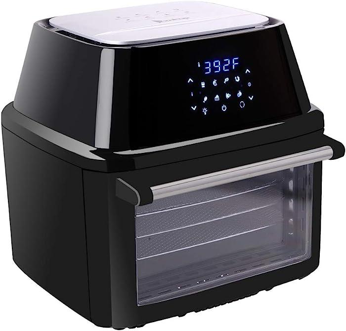 Air Fryer, 1800A-D2 120V 16.91 Air Fryer 1800W Oven Nonstick, 8 Preset Quick Menus Deep Fryers for Frying, Digital Air Fryer Oven Oilless Cooker,healthy cook for Air Frying,Reheating, Quarts Nonstick