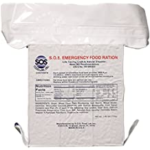 """SOS Food Labs, Inc. 185000825 S.O.S. Rations EMERGENCY 3600 Calorie Food bar - 3 Day/72 Hour Package with 5 Year Shelf Life, 5"""" Height, 2"""" Wide, 4.5"""" Length"""