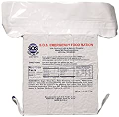 SOS Rations emergency 3600 calorie food bar - 3 day/72 hour package with 5 year shelf life net wt. 1.60lbs (756G) 15, 075 kj. 3600 kcal per package. High energy value. Ready to eat. Perfect for anyone in the process of building a disaster/eme...