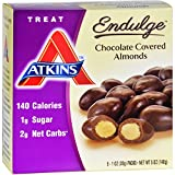Atkins Endulge Pieces - Chocolate Covered Almonds - 5 ct - 1 oz - Low Calorie (Pack of 4)