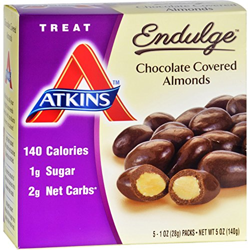 Atkins Endulge Pieces - Chocolate Covered Almonds - 5 ct - 1 oz - Low Calorie (Pack of 4) by Atkins (Image #2)