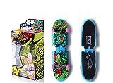Remeehi Educational Mini Finger Skateboard Cute Educational Toys Mini Finger Skateboards for Kids-Blue
