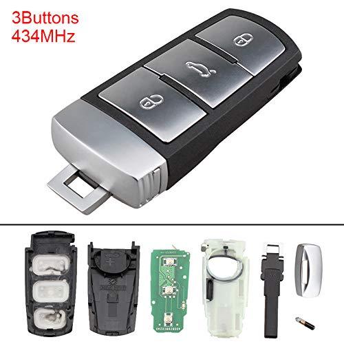 ePathChina® 434MHz 3 Buttons Keyless Uncut Flip Smart Remote Key Fob with ID48 Chip 3C0959752BA for VW Passat B6 3C B7 Magotan CC 2006-2011 EPATH DIRECT