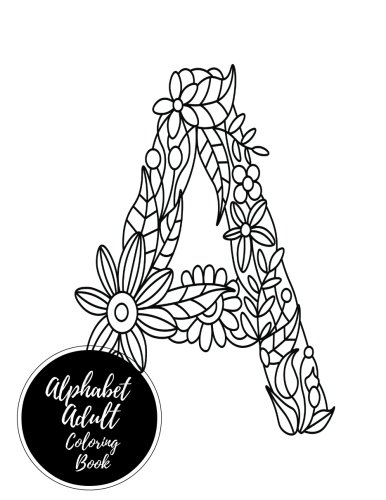 Alphabets Adult Coloring Book Relaxation product image