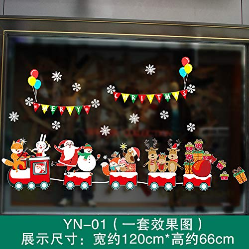 HAPPYLR Christmas Santa Claus Christmas Tree Singing Music Dancing Singing Cute Window Sticker Adesivo in Vetro, Yn01