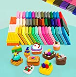 MOISO Polymer Clay, 60 Colors 1.1 oz/Block Soft