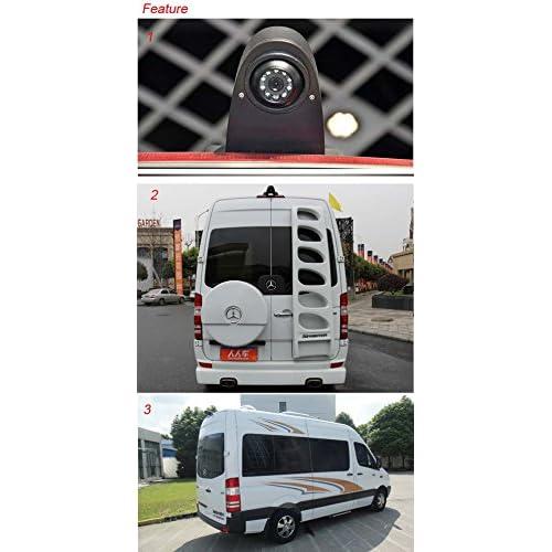 Navinio voiture Troisi/ème mont/é sur le toit haut cam/éra lampe de frein lumi/ère de frein Vue arri/ère Cam/éra de recul pour Transporter Benz Sprinter Viano Vito Transit Ducato VW Crafter T5