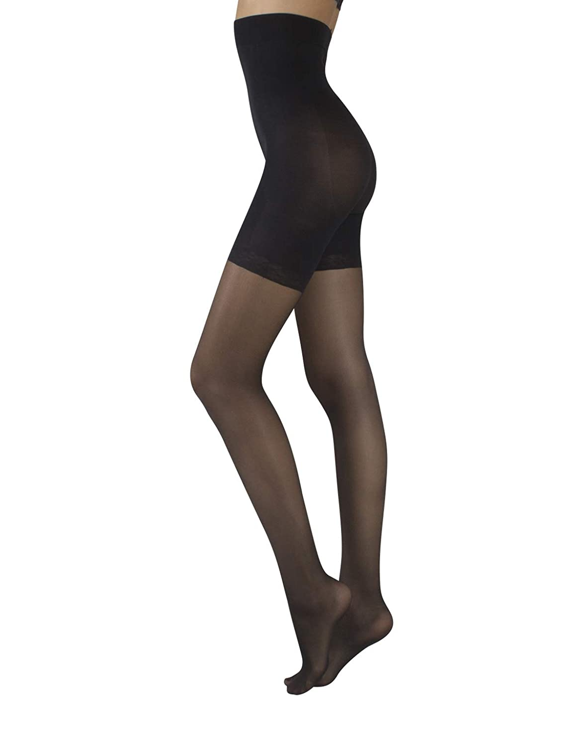 437433f94270e 20 DEN SHEER HIGH WAIST SHAPING TIGHTS - Woman High Waist tights with Push  Up, Control Body and Middle Leg-Relaxing Effect. Sheer 20 dernier pantyhose  ...
